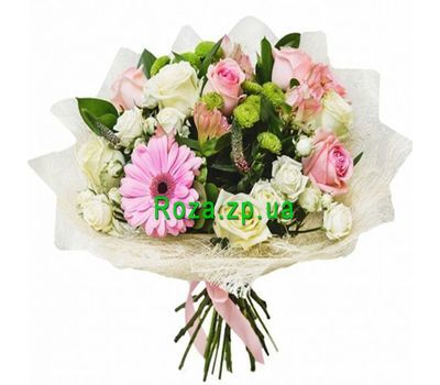 """Delicate bouquet of flowers"" in the online flower shop roza.zp.ua"