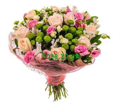 """""""Красивый букет из роз, эустом и хризантем"""" в интернет-магазине цветов roza.zp.ua"""