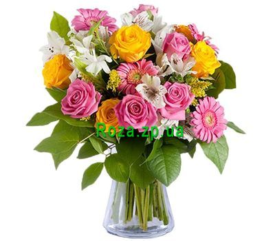 """Bright bouquet of mixes"" in the online flower shop roza.zp.ua"