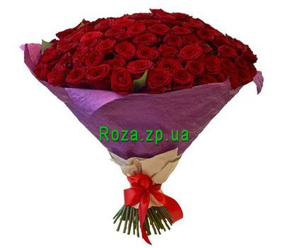 """101 красная роза с доставкой"" в интернет-магазине цветов roza.zp.ua"