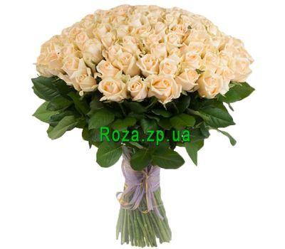 """""""101 кремовая роза"""" в интернет-магазине цветов roza.zp.ua"""