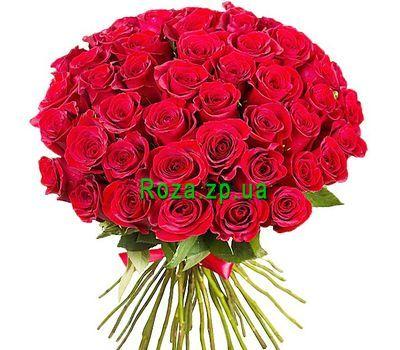 """51 красная импортная роза"" в интернет-магазине цветов roza.zp.ua"