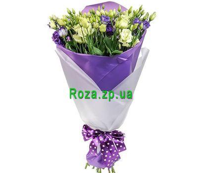 """""""Белые и фиолетовые эустомы"""" в интернет-магазине цветов roza.zp.ua"""