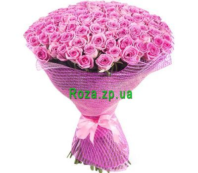 """Bouquet of 101 pink roses"" in the online flower shop roza.zp.ua"