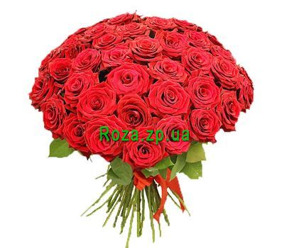 """Bouquet of 55 roses"" in the online flower shop roza.zp.ua"