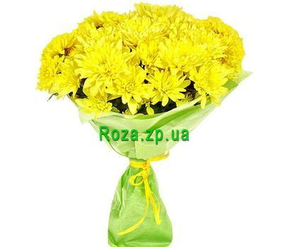 """Bouquet of yellow chrysanthemums"" in the online flower shop roza.zp.ua"