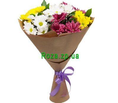 """""""Букетик из 7 хризантем в бумаге"""" в интернет-магазине цветов roza.zp.ua"""