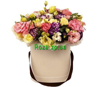 """""""Чарующие эустомы в коробке"""" в интернет-магазине цветов roza.zp.ua"""