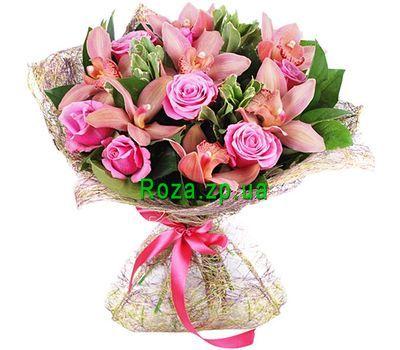 """""""Гламурный букет из орхидей и роз"""" в интернет-магазине цветов roza.zp.ua"""