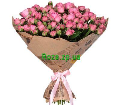 """""""Красивый букет кустовых роз в крафте"""" в интернет-магазине цветов roza.zp.ua"""