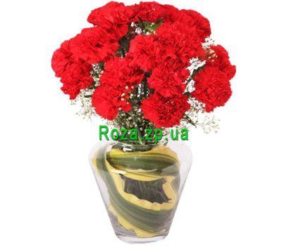 """""""Красные гвоздики в букете"""" в интернет-магазине цветов roza.zp.ua"""