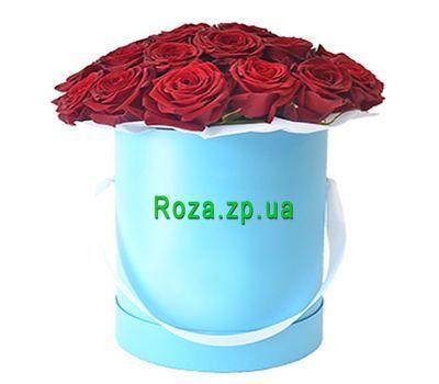 """""""Красные розы в шляпной коробке"""" в интернет-магазине цветов roza.zp.ua"""
