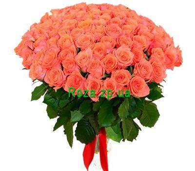 """""""Неординарный букет из 101 оранжевой розы"""" в интернет-магазине цветов roza.zp.ua"""
