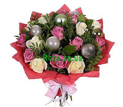 """""""Новогодний букет с игрушками"""" в интернет-магазине цветов roza.zp.ua"""