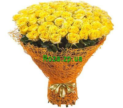 """Bouquet of 101 yellow roses"" in the online flower shop roza.zp.ua"