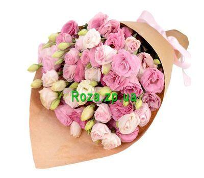 """""""Розовые эустомы в букете"""" в интернет-магазине цветов roza.zp.ua"""