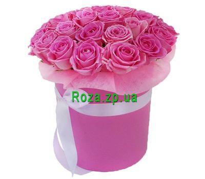 """""""Шикарный букет из розовых роз в коробке"""" в интернет-магазине цветов roza.zp.ua"""