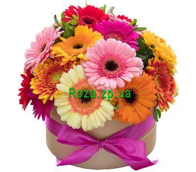 """""""Весёлая коробка с герберами"""" в интернет-магазине цветов roza.zp.ua"""