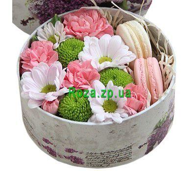 """""""Мини коробка с цветами и макарунами"""" в интернет-магазине цветов roza.zp.ua"""