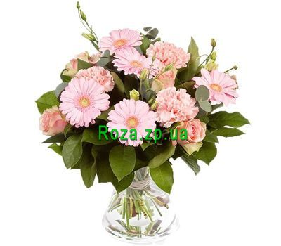 """""""Розовый букет"""" в интернет-магазине цветов roza.zp.ua"""