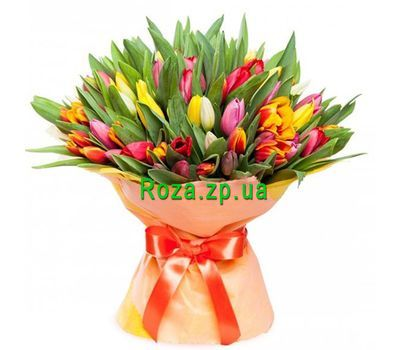 """Bouquet of 101 tulips"" in the online flower shop roza.zp.ua"
