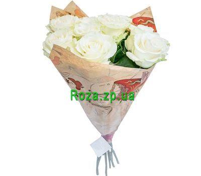 """""""7 белых роз"""" в интернет-магазине цветов roza.zp.ua"""
