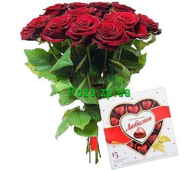 """11 роз и конфеты"" в интернет-магазине цветов roza.zp.ua"