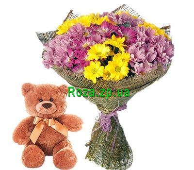 """""""Flowers and toy"""" in the online flower shop roza.zp.ua"""
