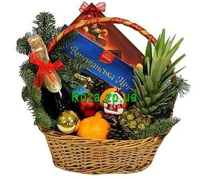 """""""Подарочная корзина на новогодние праздники"""" в интернет-магазине цветов roza.zp.ua"""