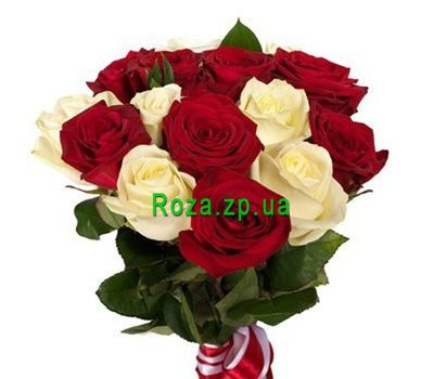 """Bouquet of 15 roses"" in the online flower shop roza.zp.ua"