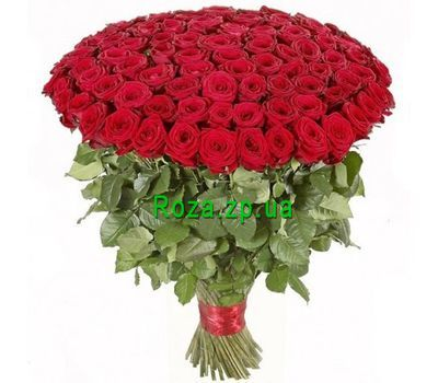 """A huge bouquet of 101 red roses"" in the online flower shop roza.zp.ua"