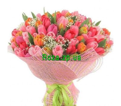 """""""Букет из 101 тюльпана"""" в интернет-магазине цветов roza.zp.ua"""