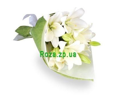 """Bouquet of 3 lilies"" in the online flower shop roza.zp.ua"