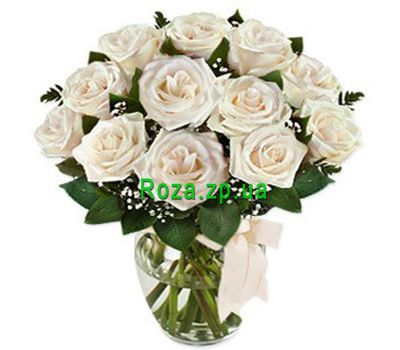 """Bouquet of flowers from 13 white roses"" in the online flower shop roza.zp.ua"