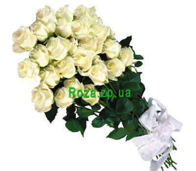 """Bouquet of flowers from 25 white roses"" in the online flower shop roza.zp.ua"