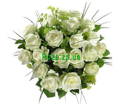 """Bouquet of 21 white roses"" in the online flower shop roza.zp.ua"