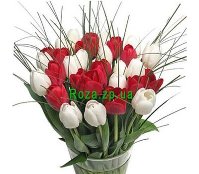 """Bouquet of 39 Tulips"" in the online flower shop roza.zp.ua"