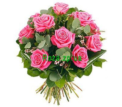 """Bouquet of 11 pink roses"" in the online flower shop roza.zp.ua"