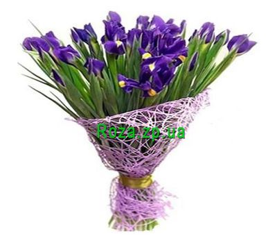 """25 irises"" in the online flower shop roza.zp.ua"