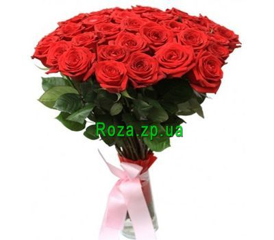 """Bouquet of 33 red roses"" in the online flower shop roza.zp.ua"