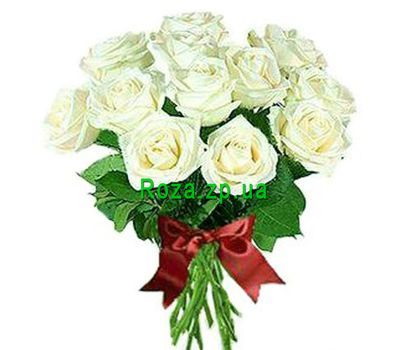 """Bouquet of 15 white roses"" in the online flower shop roza.zp.ua"