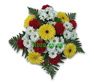 """Bouquet of flowers from chrysanthemums. carnations and gerberas"" in the online flower shop roza.zp.ua"
