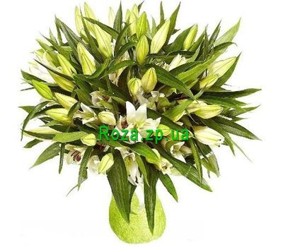 """""""Bouquet of 21 lilies"""" in the online flower shop roza.zp.ua"""