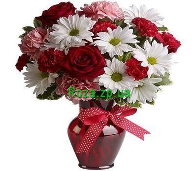 """""""Букет цветов из роз и хризантем"""" в интернет-магазине цветов roza.zp.ua"""
