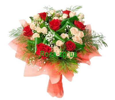 """Bouquet of different color roses"" in the online flower shop roza.zp.ua"