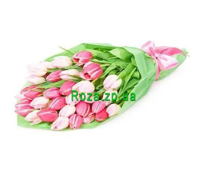"""Bouquet of 31 tulips"" in the online flower shop roza.zp.ua"