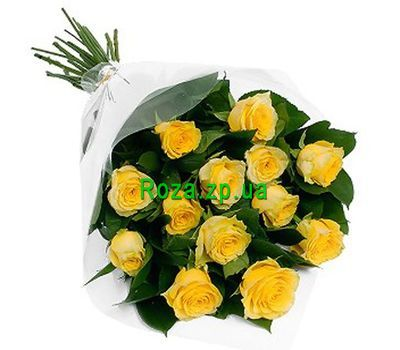 """Bouquet of 13 yellow roses"" in the online flower shop roza.zp.ua"