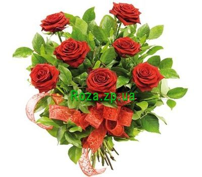 """Bouquet of 7 red roses flowers"" in the online flower shop roza.zp.ua"