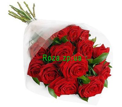 """Bouquet of flowers of 13 red roses"" in the online flower shop roza.zp.ua"