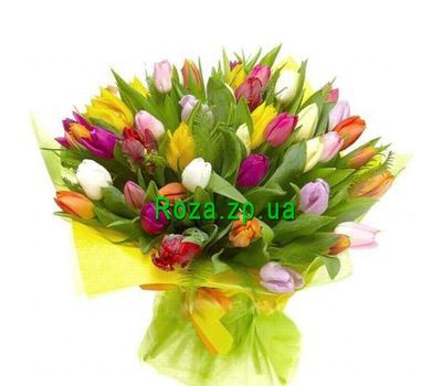 """Bouquet of 75 Tulips"" in the online flower shop roza.zp.ua"